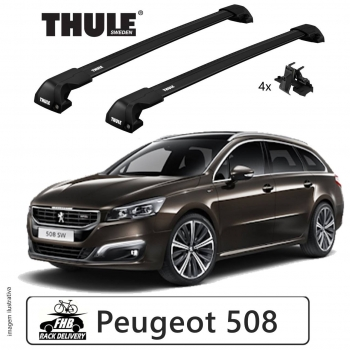 Rack Thule Edge Black Flush Rail 7206 Peugeot 508sw 2011