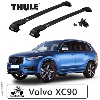Rack Thule Edge Black Flush Rail 7206 para Volvo XC90 2015