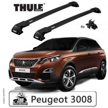 Rack Thule Edge Black Flush Rail 7206 Peugeot 3008 2017