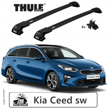 Rack Thule Edge Black Flush Rail 7206 Kia Ceed sw 2012-18