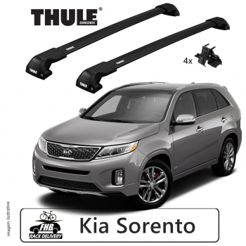 Rack Thule Edge Black Flush Rail 7206 Kia Sorento 2015-